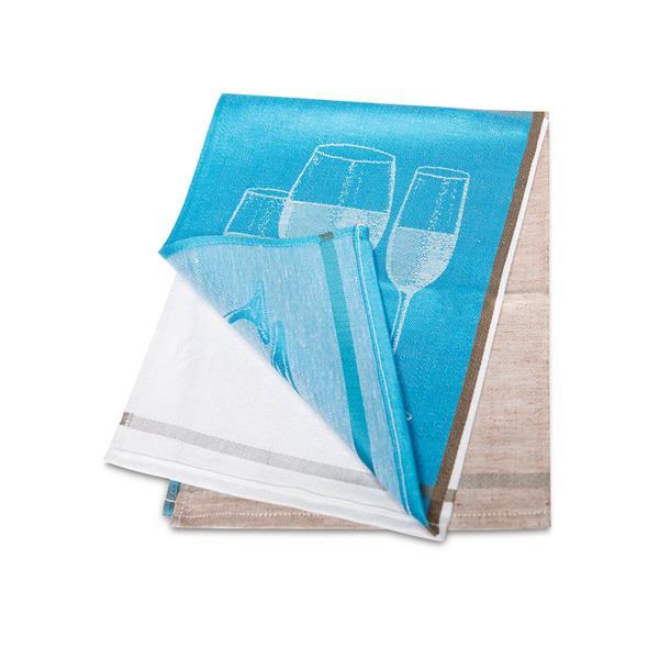 Halbleinen Glästertuch 50 x70 cm