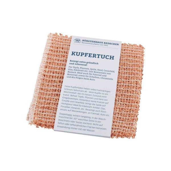 Kupfer-Scheuertuch 25 x 25 cm - 2er Pack