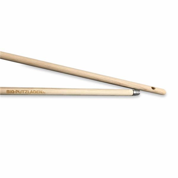 Premium Holzstiel aus Esche 1400 x 24 mm mit Metallgewinde