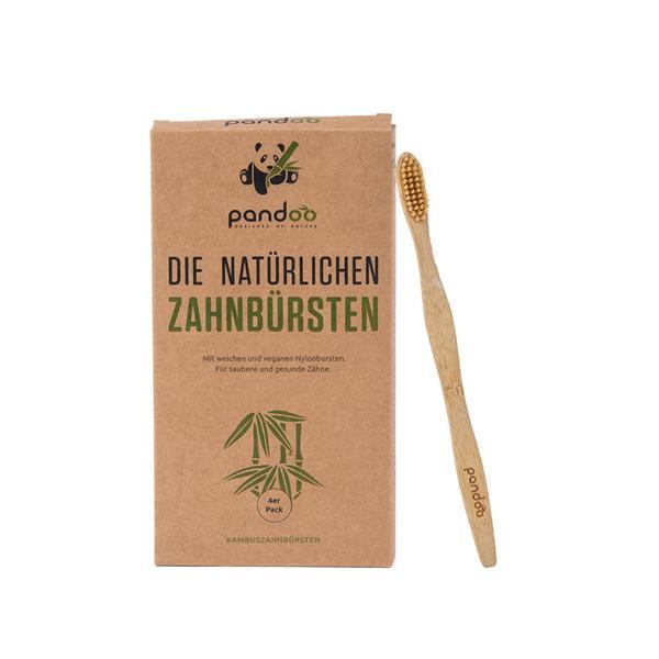 Bambus Zahnbürste 4er Pack