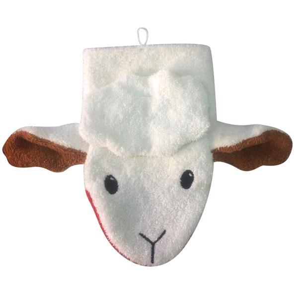 Kinder Motiv Wasch-Handschuh - Schaf