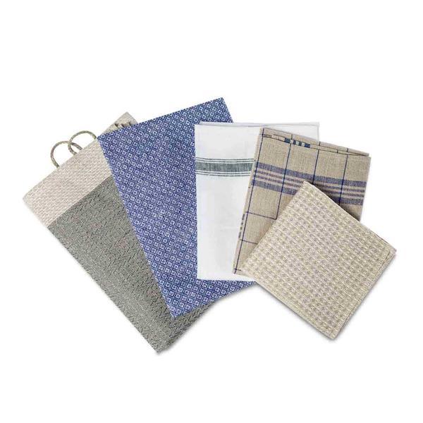 Premium Naturfaser Tuch Set Küche - 6 teilig
