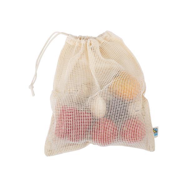 Gemüse u- Obst Einkaufsnetz mit Kordelzug im Doppelpack